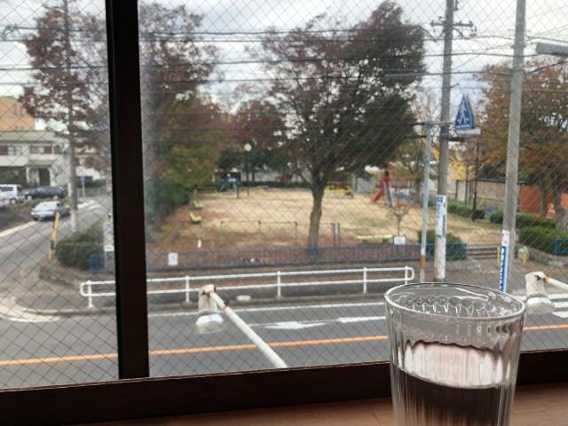名古屋市天白区【キッサ マシマロ】モーニング 公園ビュー