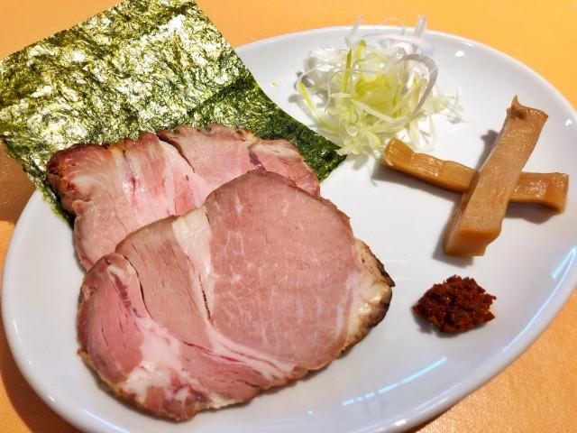 名古屋市天白区原ラーメン【らぁ麺 蒼空(そら)】つけめん具材