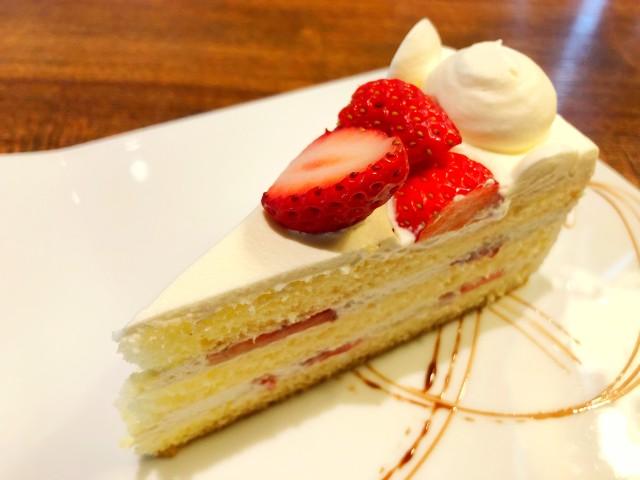 平針ランチ【リグノーサカフェ】試験場周辺 季節のショートケーキ