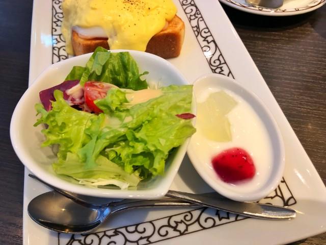 平針カフェ(試験場近く)【元町珈琲 愛知徳重の離れ】サラダ、ヨーグルト