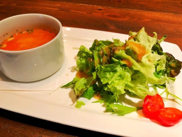 KAMINOKURA 436 TERRACE(カミノクラ436テラス)ランチサラダ&スープ