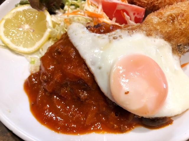 覚王山ランチ【キッチンひらき】目玉焼きハンバーグ