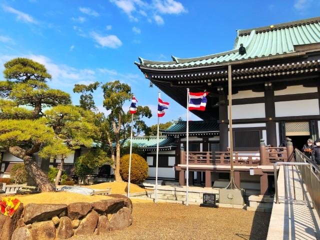 覚王山イベント【日泰寺縁日】タイ国旗