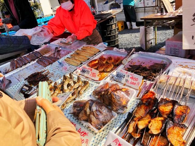 覚王山イベント【日泰寺縁日】焼き魚の数々
