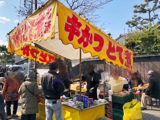 覚王山イベント【日泰寺縁日】串カツ、どて煮1