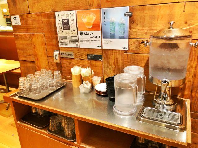 【無印カフェ】カフェ&ミールムジ(MUJI)名駅 お水など