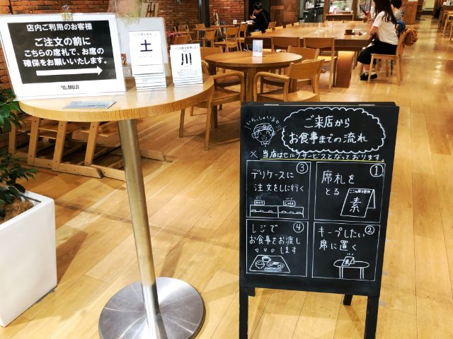 【無印カフェ】カフェ&ミールムジ(MUJI)名駅 セルフ