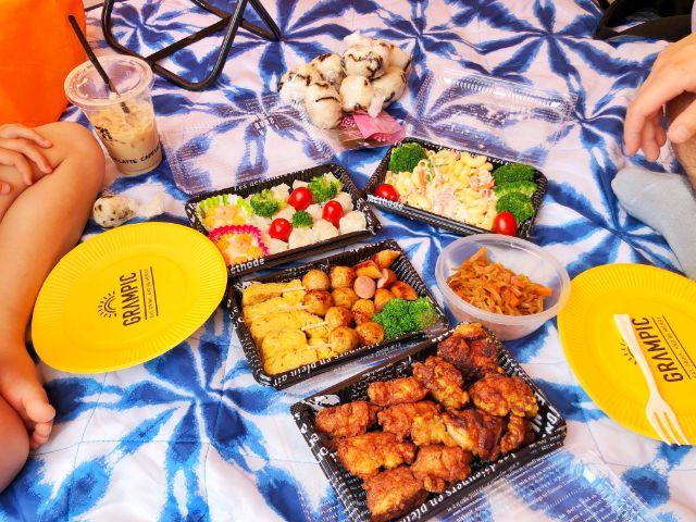 【戸田川緑地】ピクニックにはお弁当持参がおすすめ