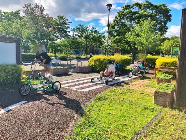 【戸田川緑地】おもしろ自転車2