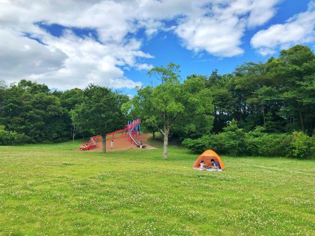 【戸田川緑地】ピクニックにはテント持参がおすすめ