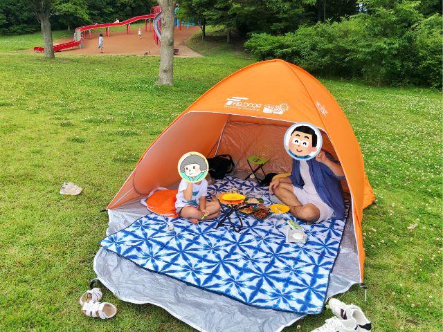 【戸田川緑地】ピクニックにはテント持参がおすすめ2