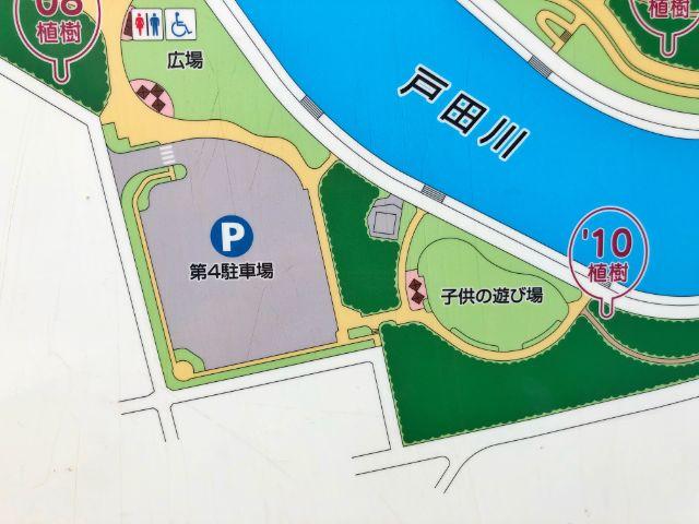 【戸田川緑地】第4駐車場