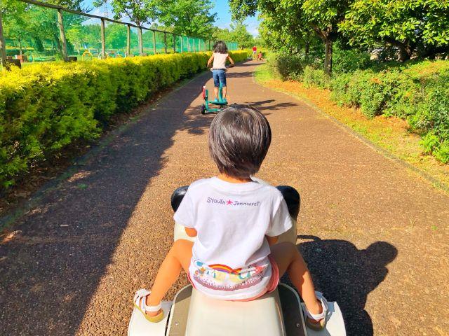 【戸田川緑地】おもしろ自転車8